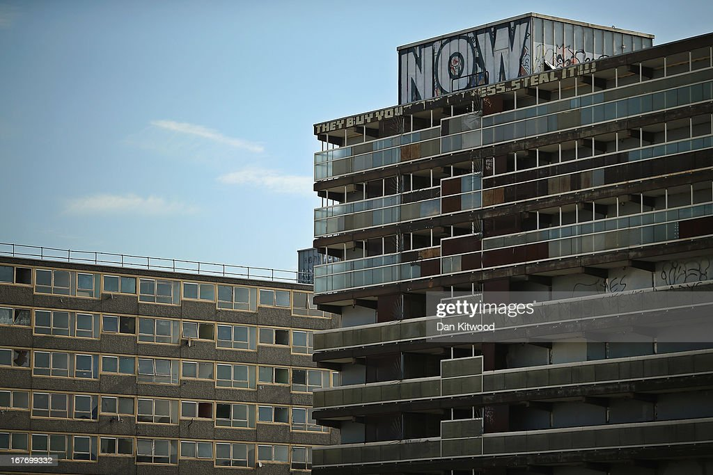 A general view of the Heygate Estate in the Walworth area on April 24, 2013 in London, England. The Heygate estate in central London was built in 1974 as social housing and housed around 3000 people, but fell into a state of disrepair, gaining a reputation for crime and poverty. The estate is due to be demolished as part of the £1.5billion GBP 'Elephant & Castle regeneration scheme', and replaced with 2,500 'affordable' new homes. The area has become popular with street artists, storytellers, and guerilla gardeners and attracts an array of urban wildlife including bats, birds and mammals.
