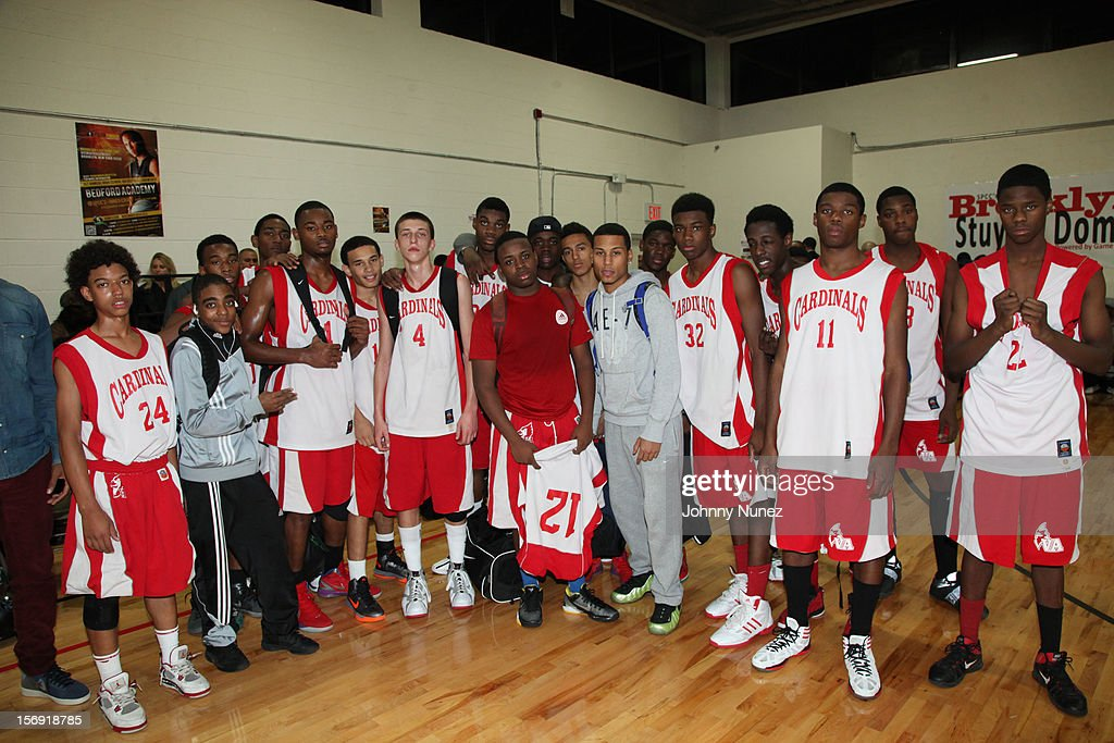 A general view of the High School Basketball team attend the 2012 High School Basketball Showcase at Bedford Academy on November 24, 2012 in the Brooklyn borough of New York City.