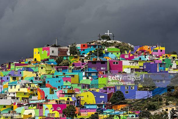 General view of the hill 'Las Palmitas' in Pachuca Hidalgo state Mexico on August 06 2015 An initiave made in coordination by the national and local...