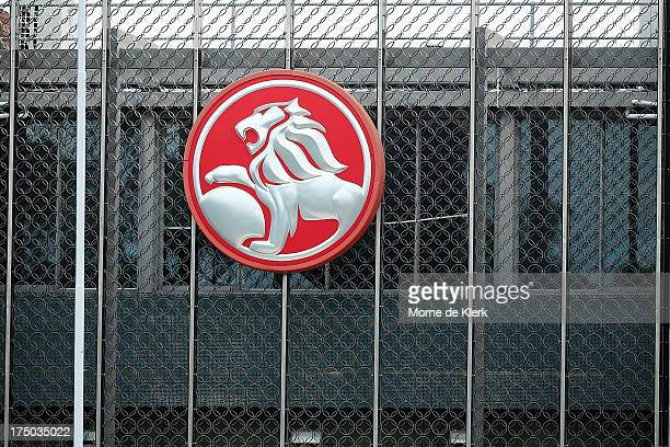 A general view of the Holden manufacturing plant at Elizabeth shows the company logo on July 30 2013 in Adelaide Australia Holden a subsidiary of...