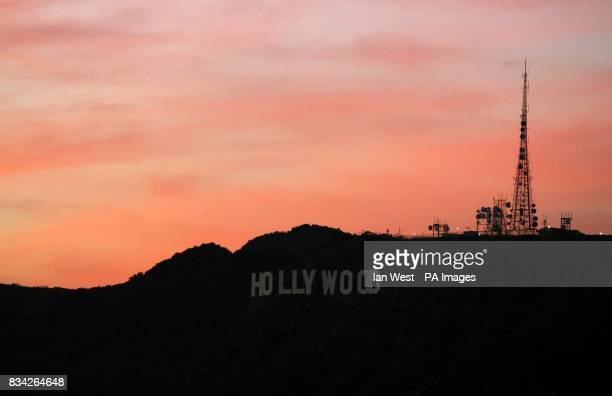 General view of the Hollywood sign from the Griffith Observatory in Los Angeles