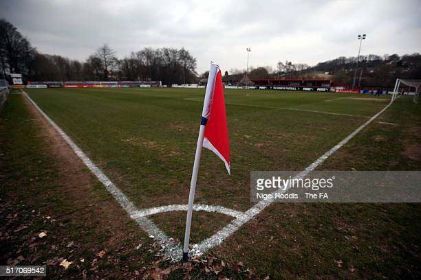 A general view of The Home of Football Stadium ahead of the FA WSL 2 match between Sheffield FC and Durham Ladies at the Home of Football Stadium on...
