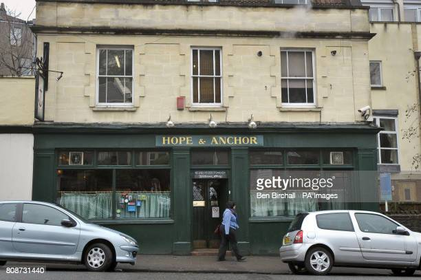 A general view of the Hope Anchor pub on Jacob Wells Road near Clifton Bristol where the police cancelled a stop and question appeal with the public...