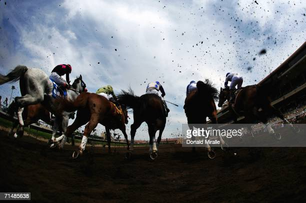A general view of the horses breaking at the gate during Opening Day at Del Mar McDonnell Associates 1 1/16 Mile Race on July 19 2006 at Del Mar...