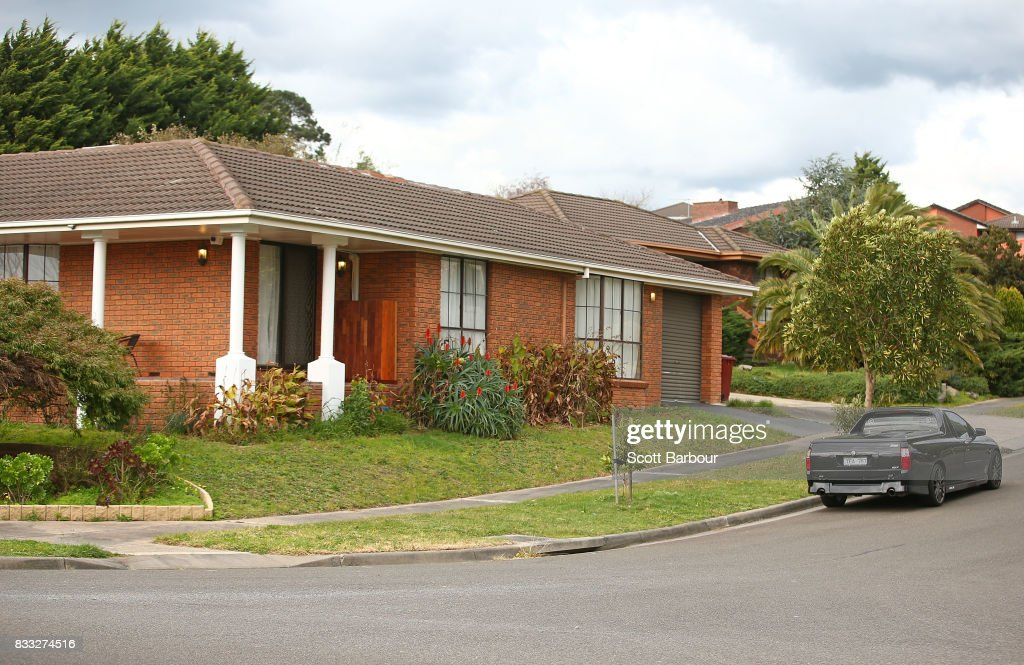 A general view of the house after a drive-by shooting at a property in Narre Warren in Melbourne's south eastern suburbs on August 17, 2017 in Melbourne, Australia. Homicide detectives are investigating the death of a 26-year-old man who was killed at the Kurrajong Road house as a result of the shooting.