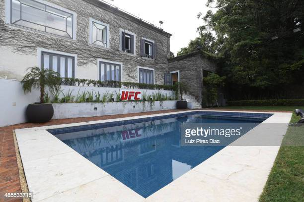 A general view of the house facilities where Team Wanderlei and Team Sonnen reside during season three of The Ultimate Fighter Brazil on January 11...