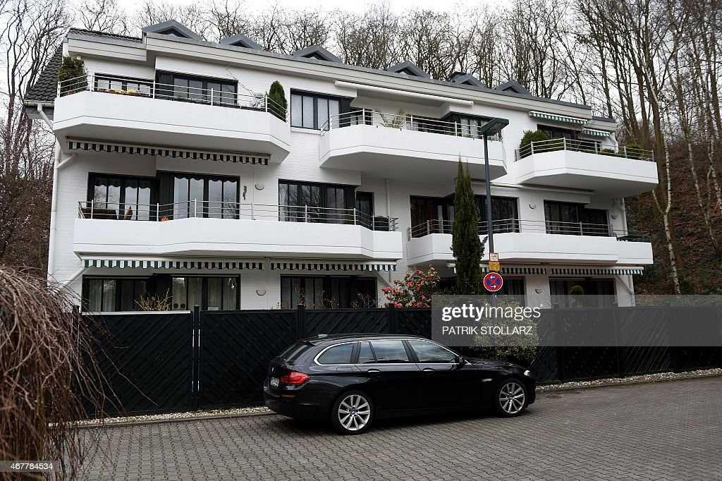 A general view of the house were in one of the flats lived Andreas Lubitz the Germanwings copilot who flew his Airbus into a French mountainside...