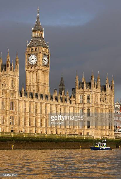 A general view of the Houses of Parliament from the River Thames on January 26 2009 in London England The Sunday Times newspaper has made allegations...