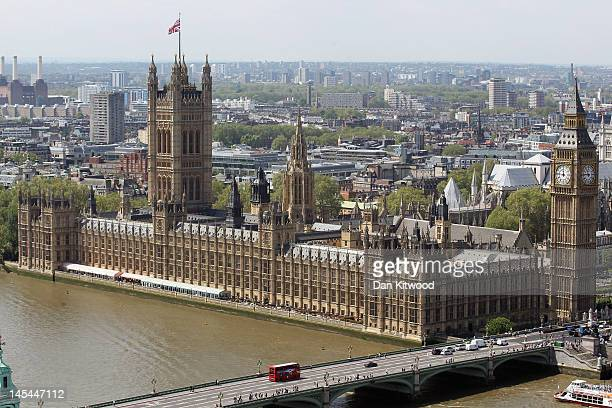 A general view of the Houses of Parliament on May 30 2012 in London England
