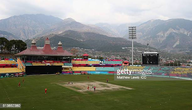 A general view of the HPCA Stadium during the ICC Twenty20 World Cup warmup match between Ireland and Zimbabwe at the HPCA Stadium on March 5 2016 in...