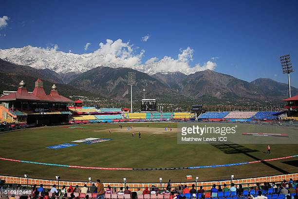 A general view of the HPCA Stadium during the Women's ICC World Twenty20 India 2016 match between England and India at the HPCA Stadium on March 22...