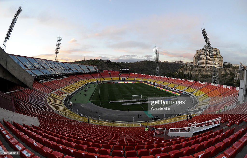 General view of the Hrazdan Stadium prior to the FIFA 2014 World Cup Qualifier group B match between Armenia and Italy at Hrazdan Stadium on October 12, 2012 in Yerevan, Armenia.
