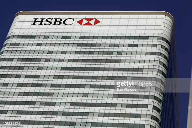 A general view of the HSBC Holdings Plc Headquarters at Canary Wharf on March 7 2011 in London England