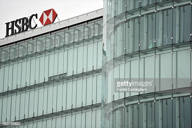 A general view of the HSBC private bank offices on February 18 2015 in Geneva Switzerland Swiss prosecutors have started searching offices of the...