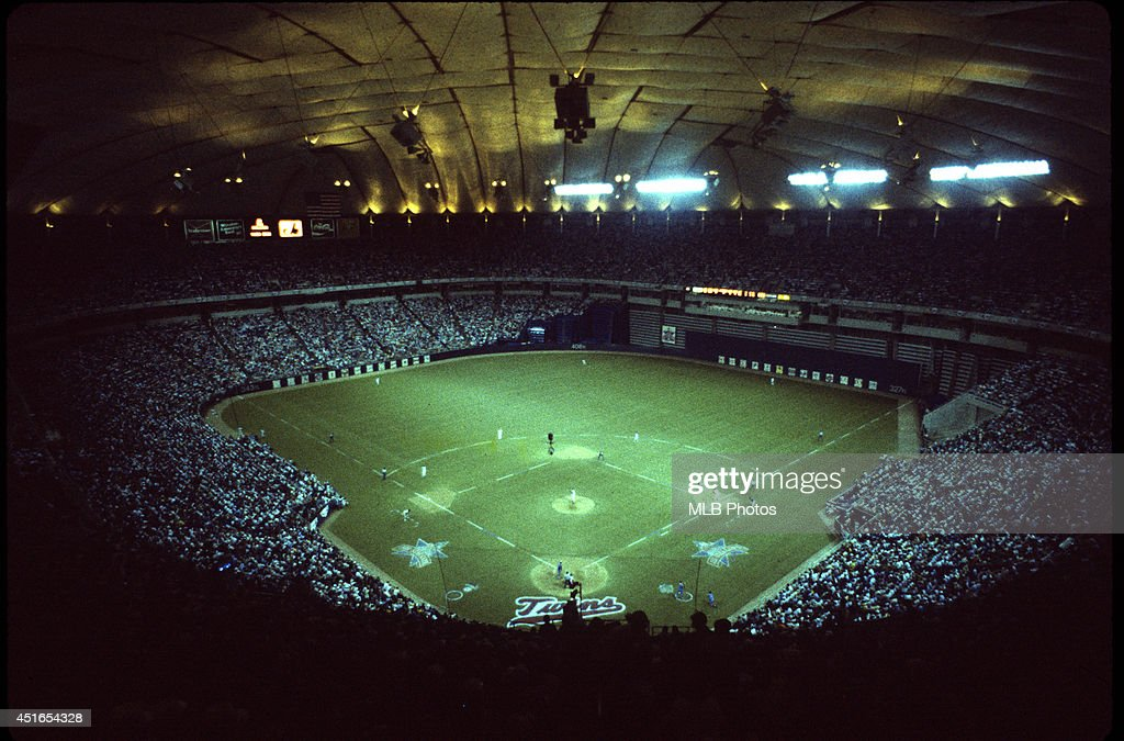 A general view of The Hubert H. Humphrey Metrodome during the 56th Major League Baseball All-Star Game between the American and National Leagues on Tuesday, July 16, 1985 in Minneapolis, MN.