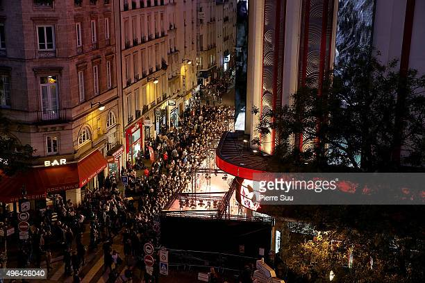 General View of The Hunger Games Mockingjay Part 2 Paris Photocall At Cinema Le Grand Rex on November 9 2015 in Paris France