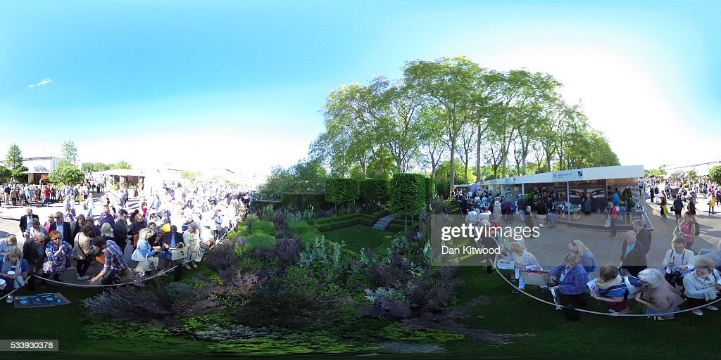 A general view of the Husqvarna Garden during the Chelsea Flower Show at Royal Hospital Chelsea on May 24, 2016 in London, England. The show, which has run annually since 1913 in the grounds of the Royal Hospital Chelsea, is open to the public from 24-28 May.
