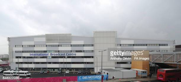 General view of the IBC in the Olympic park Stratford