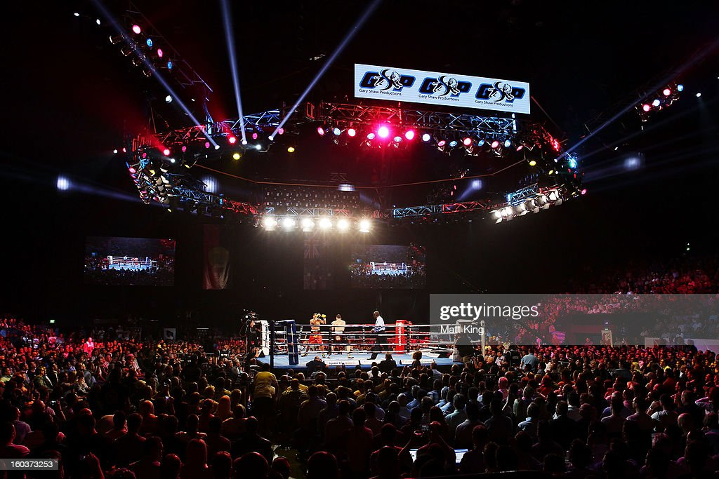 A general view of the IBF Middleweight Title bout between <a gi-track='captionPersonalityLinkClicked' href=/galleries/search?phrase=Anthony+Mundine&family=editorial&specificpeople=213446 ng-click='$event.stopPropagation()'>Anthony Mundine</a> and <a gi-track='captionPersonalityLinkClicked' href=/galleries/search?phrase=Daniel+Geale&family=editorial&specificpeople=2229560 ng-click='$event.stopPropagation()'>Daniel Geale</a> at Sydney Entertainment Centre on January 30, 2013 in Sydney, Australia.