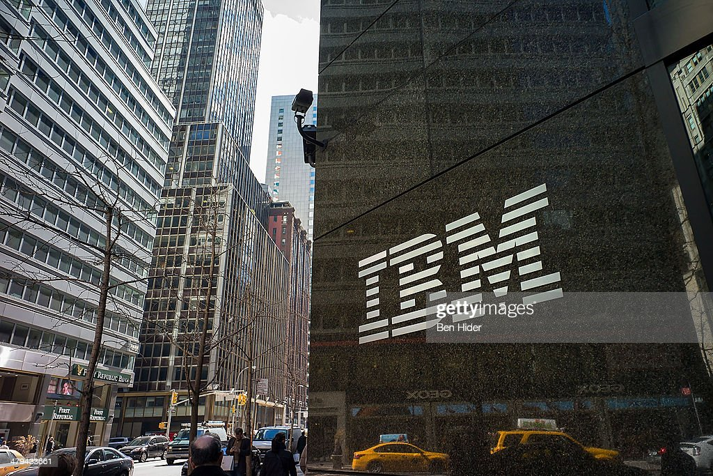 A general view of the IBM The International Business Machines Corporation offices on Madison Avenue on March 11, 2014 in New York City.