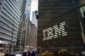 A general view of the IBM The International Business Machines Corporation offices on Madison Avenue on March 11 2014 in New York City