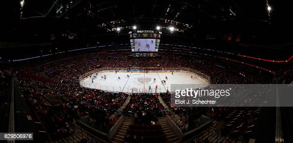 A general view of the ice surface while the Florida Panthers host the Vancouver Canucks at the BBT Center on December 10 2016 in Sunrise Florida