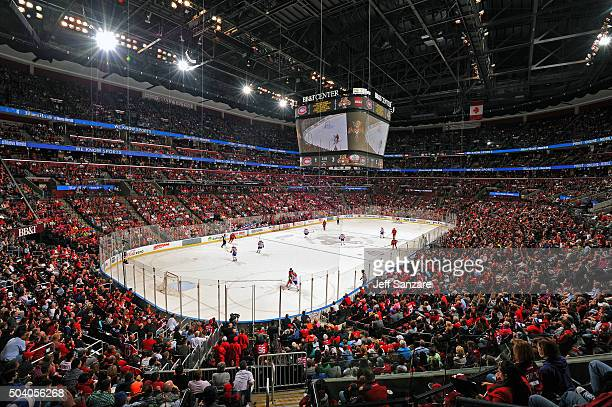 A general view of the ice surface while the Montreal Canadiens take on the Florida Panthers at the BBT Center on December 29 2015 in Sunrise Florida