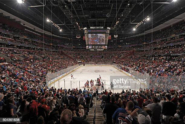 A general view of the ice surface while the New York Rangers play the Florida Panthers at the BBT Center on January 2 2016 in Sunrise Florida
