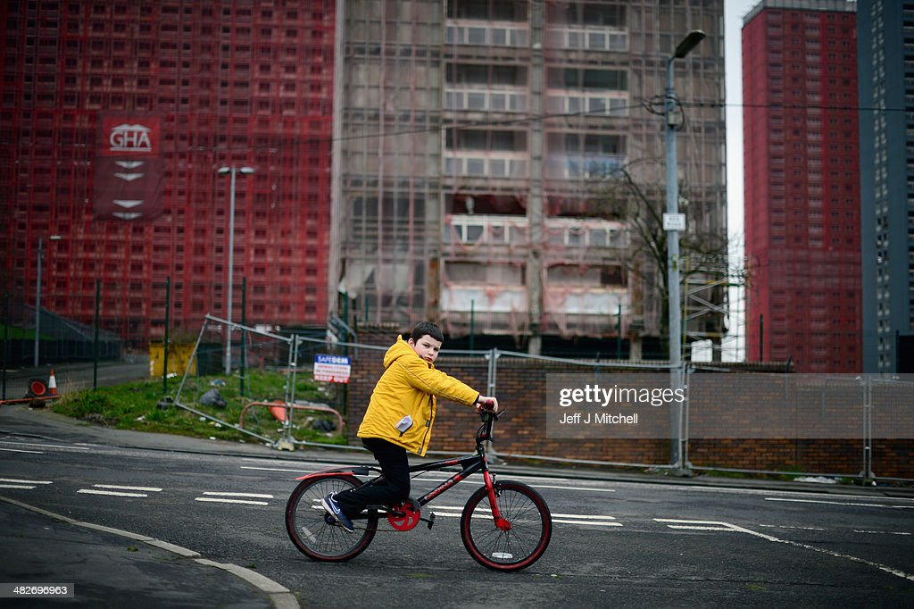A general view of the iconic Red Road flats on April 4, 2014 in Glasgow, Scotland. Five of the six tower blocks are to be demolished, which will apparently take just 15 seconds, during the opening ceremony of the 2014 Commonwealth Games being held in the city on July 23, 2014.