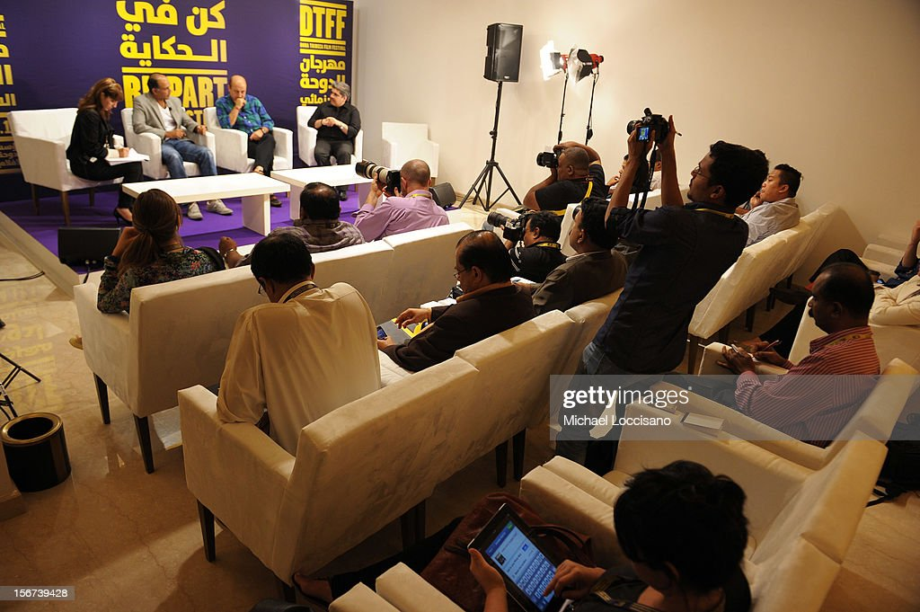 A general view of the India Discussion during the 2012 Doha Tribeca Film Festival at the Al Mirqab Boutique Hotel on November 20, 2012 in Doha, Qatar.
