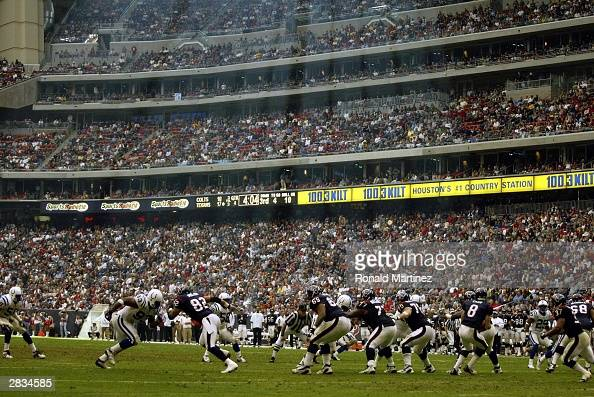 A general view of the Indianapolis Colts and the Houston Texans on December 28 2003 at Reliant Stadium in Houston Texas