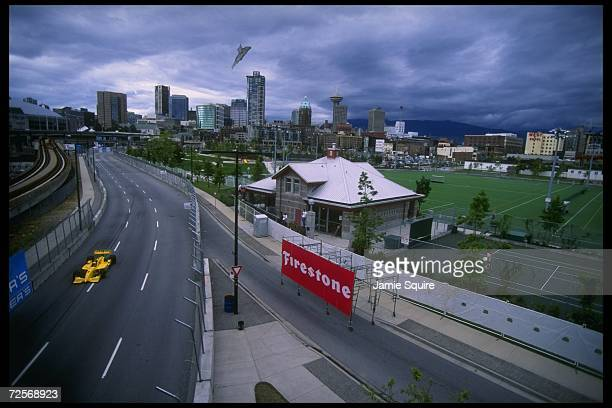 General view of the Indycar Molson Indy in Vancouver British Columbia