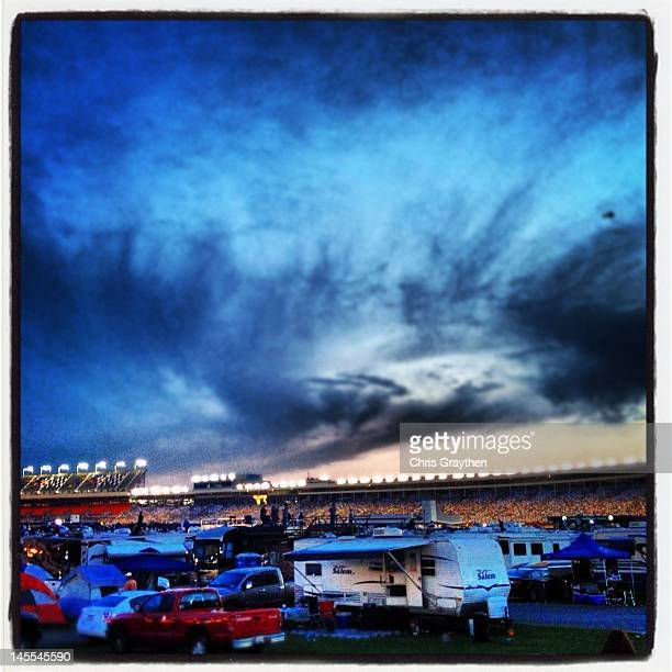 A general view of the infield during the NASCAR Camping World Truck Series NC Education Lottery 200 at Charlotte Motor Speedway on May 18 2012 in...