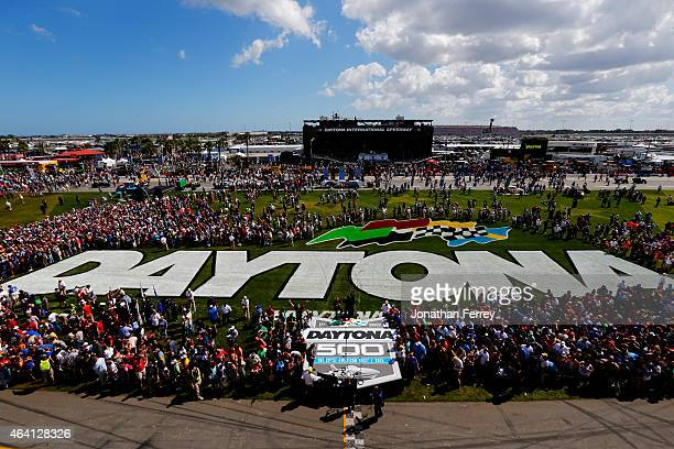 A general view of the infield prior to the NASCAR Sprint Cup Series 57th Annual Daytona 500 at Daytona International Speedway on February 22 2015 in...