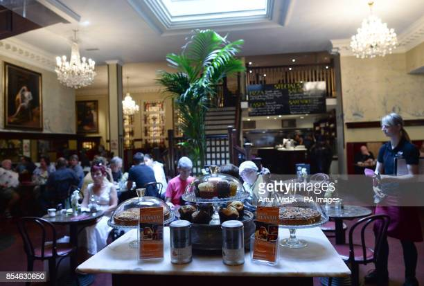 A general view of the inside of Bewley's Cafe on busy Grafton Street in Dublin Ireland as the cafe has lost its longrunning fight to stop its...