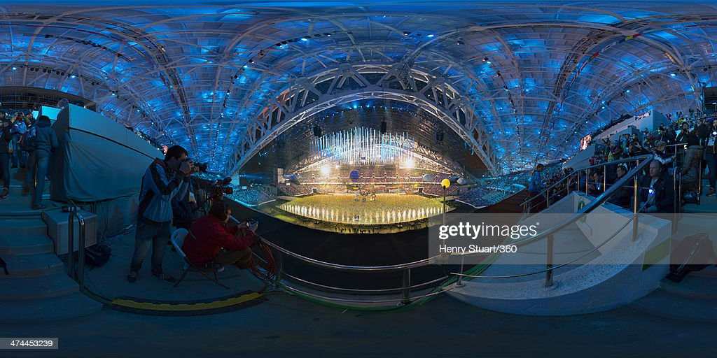 A general view of the inside of Fisht Stadium during the 2014 Sochi Winter Olympics Closing Ceremony at Fisht Olympic Stadium on February 23, 2014 in Sochi, Russia.