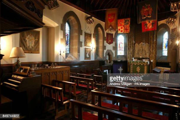 General view of the inside of the Chapel at Cromlix House Hotel after tennis ace Andy Murray bought the 18 million luxury hotel where his brother wed...