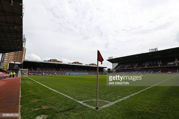 General view of the inside of the stadium ahead of the English Premier League football match between West Ham United and Swansea City at The Boleyn...