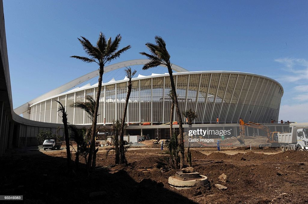 AFRICA SEPTEMBER 27 A general view of the inspectors in Moses Mabhida during Fifa inspection on September 27 2009 in Durban South Africa