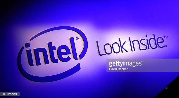 A general view of the Intel booth at the 2014 International CES at the Las Vegas Convention Center on January 7 2014 in Las Vegas Nevada CES the...