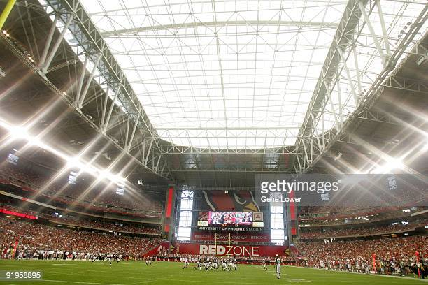 General view of the interior during the game between the Houston Texans and the Arizona Cardinals on October 11 2009 at the University of Phoenix...