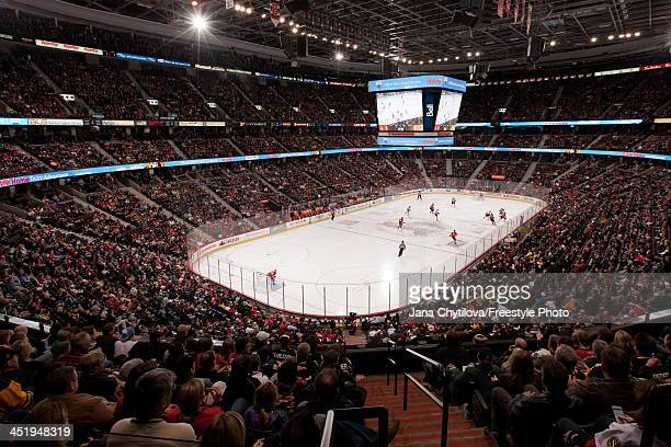 General view of the interior of Canadian Tire Centre during an NHL game between Ottawa Senators and the Boston Bruins on November 15 2013 in Ottawa...