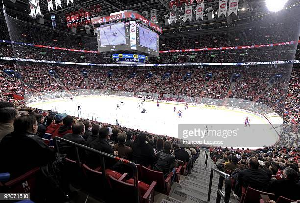 A general view of the interior of Crowd Bell center during the NHL game between the Montreal Canadiens and the Colorado Avalanche on October 15 2009...