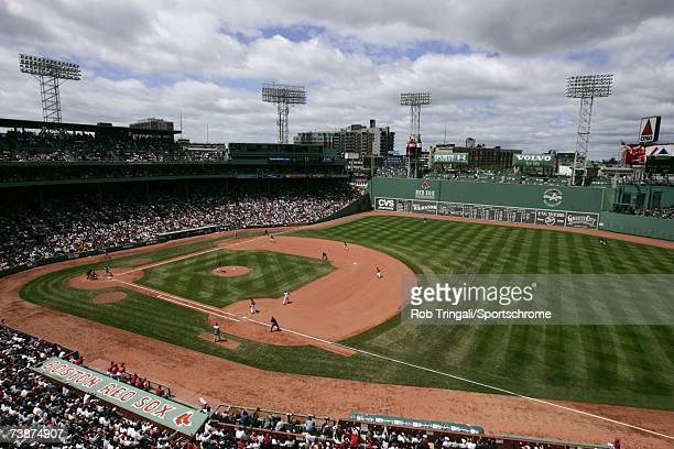 A general view of the interior of Fenway Park during a game between the Texas Rangers and the Boston Red Sox on June 11 2006 at Fenway Park in Boston...
