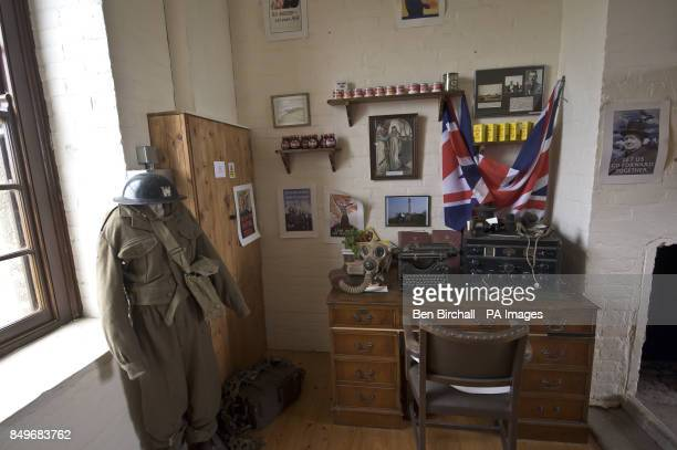 A general view of the interior of Flat Holm museum housed within the old Victorian stone barracks built in 1869 to sleep up to 50 men on Flat Holm...