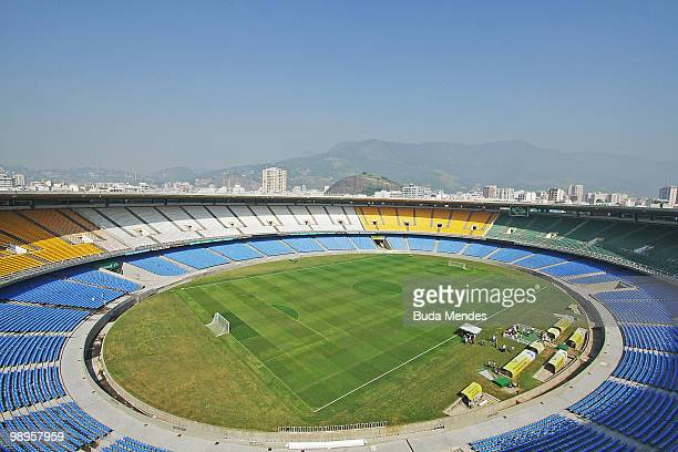 General view of the interior of Maracana Stadium three days prior to an inspection by the FIFA 2014 World Cup Organizing Committee on may 7 2010 in...
