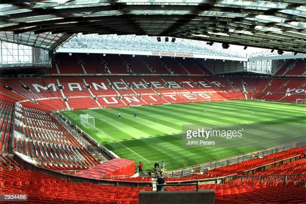 A general view of the interior of Old Trafford in August 2000