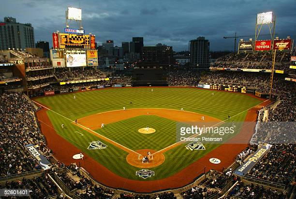 General view of the interior of Petco Park during action between the Pittsburgh Pirates and the San Diego Padres on April 7 2005 at Petco Park in San...