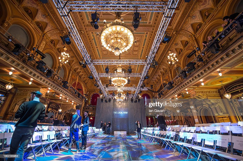 General view of the interior of the Berns Hotel before The Local Firm show at Mercedes-Benz Stockholm Fashion Week A/W 13 at Berns on January 28, 2013 in Stockholm, Sweden.