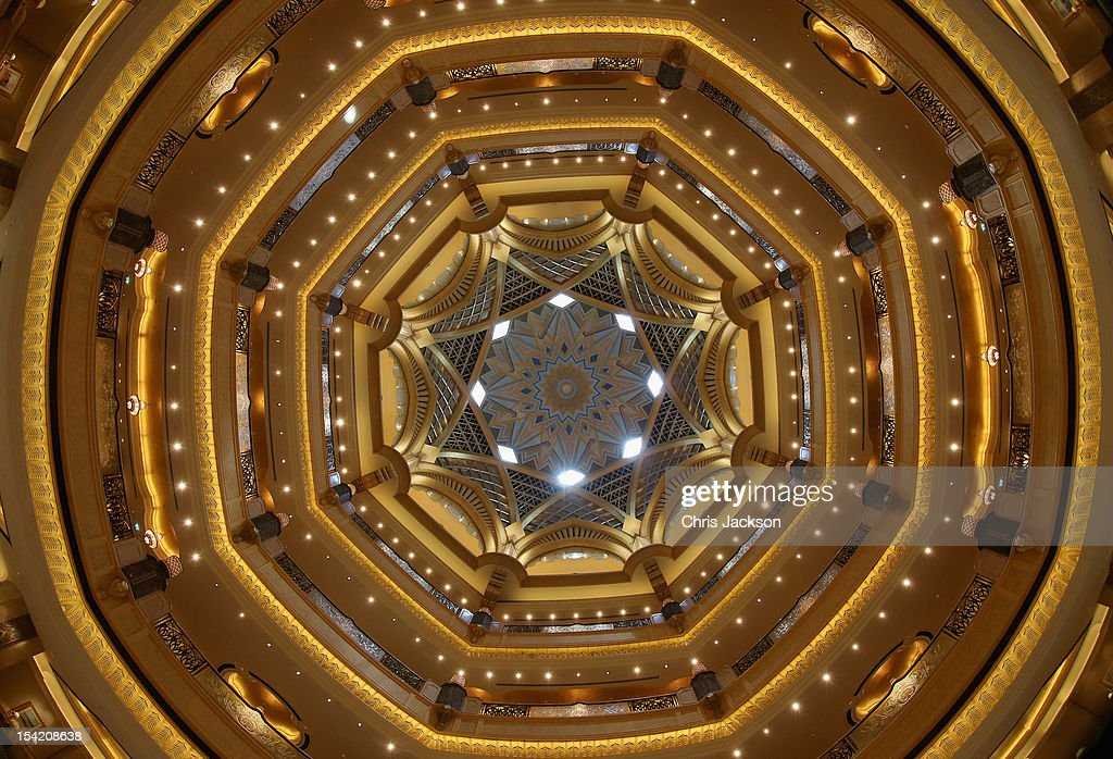A general view of the interior of the Emirates Palace Hotel on day five of the Abu Dhabi Film Festival 2012 at Emirates Palace on October 15, 2012 in Abu Dhabi, United Arab Emirates.